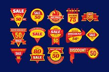 Sale & Discount - Vector Badges Set