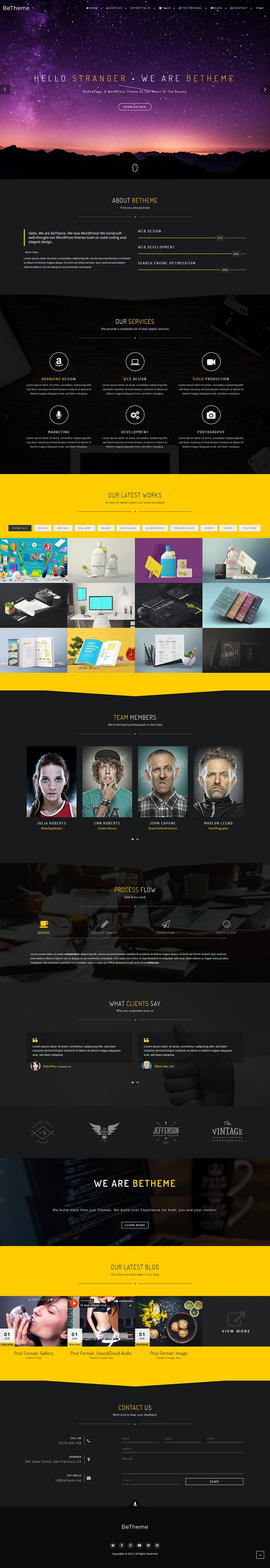 BeOnePage - Creative WordPress Theme