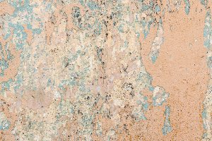 Shabby paint color on wall plaster