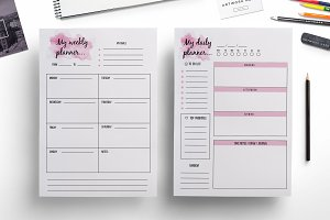 Weekly planner , daily planner