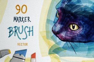 Marker Brush Pack for ILLUSTRATOR