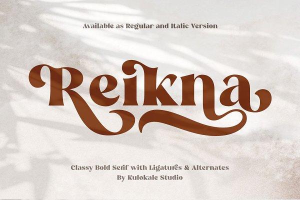 Reikna - Classy Bold Serif