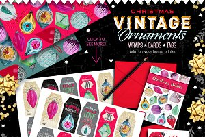 Vintage Ornaments - wraps/cards/tags