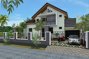 Two floors house Semi Type 177 Moder