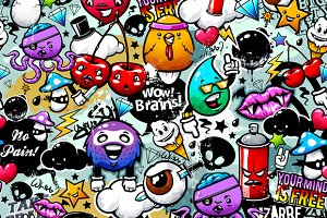 Graffiti Seamless Pattern #1