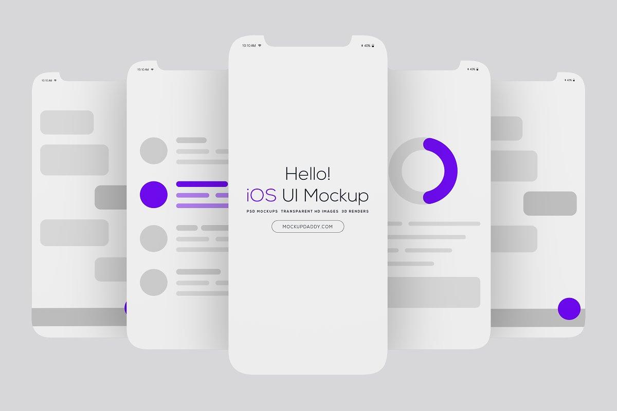 5 Mobile Screens Ui Mockup Creative Mobile Web Mockups