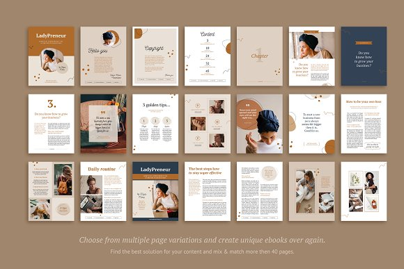 eBook / CANVA, INDD / Kayla in Magazine Templates - product preview 2