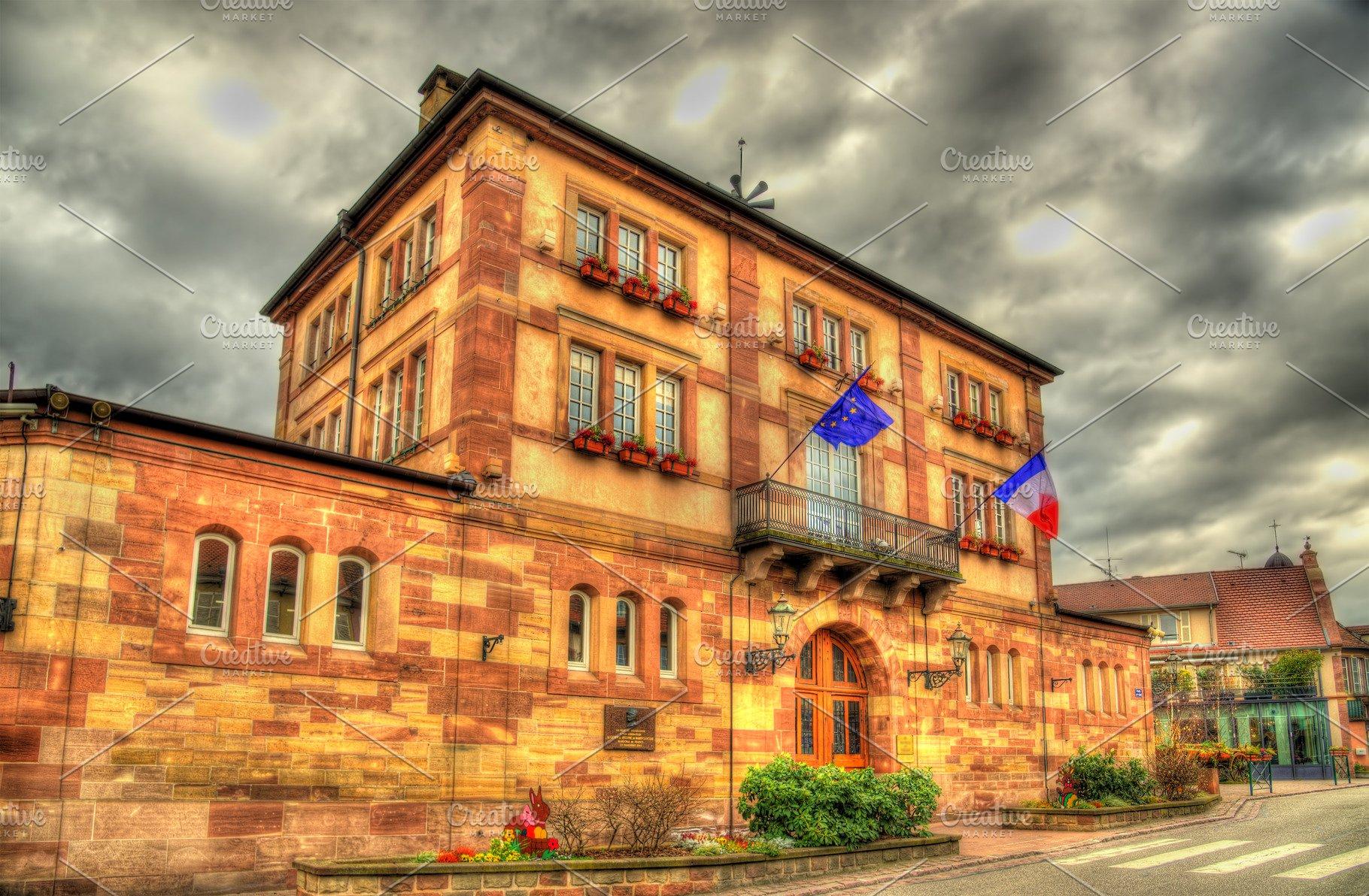 Architecte Bas Rhin town hall of wasselonne - bas-rhin,