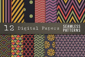 Digital Paper Seamless Patterns