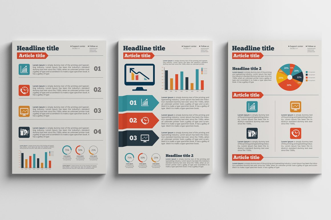Business Plan A4 Flyer Brochure Flyer Templates