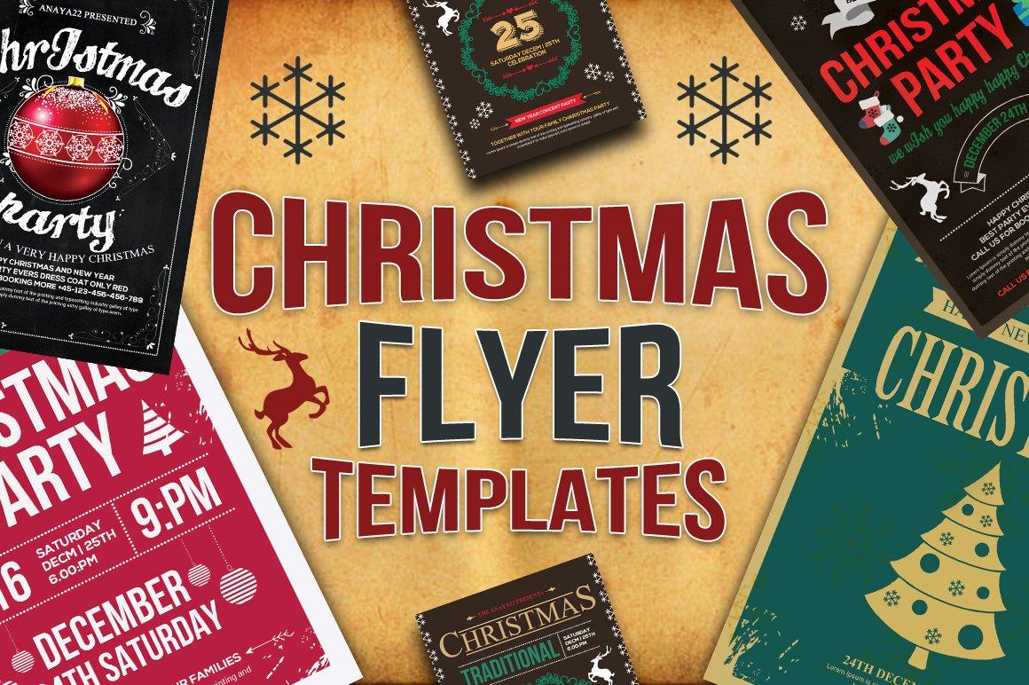 10 christmas flyers bundle flyer templates creative market. Black Bedroom Furniture Sets. Home Design Ideas