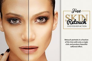 Fine Skin Retouch Photoshop Action