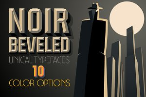 RETRO beveled vector alphabet