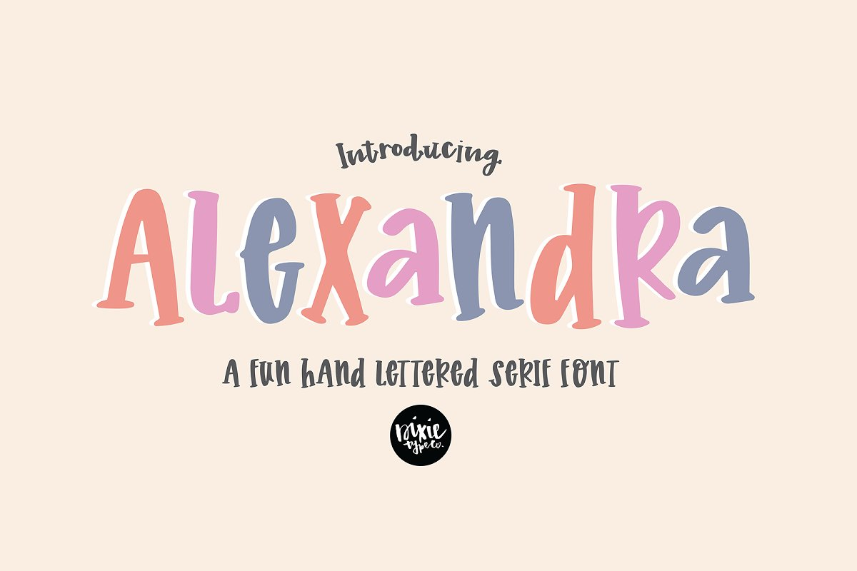 ALEXANDRA a Hand Lettered Serif Font in Serif Fonts