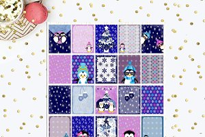 Cool Penguins Printable Planner Box