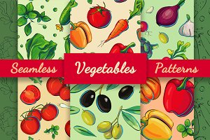 12 Grunge Vegetable Patterns