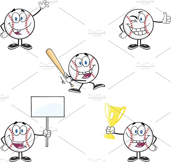 Baseball Ball Collection- 1 in Illustrations