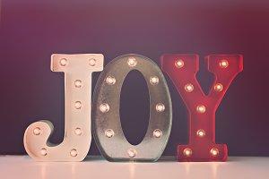 Joy - Christmas Holiday Decor Photo