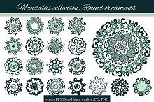 Mandalas collection. Round-4