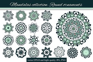 Mandalas collection. Round-4