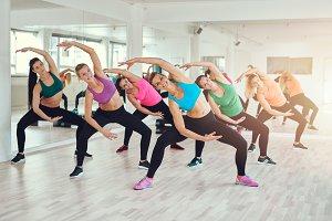 Aerobics class at a gym