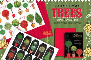 ChristmasTrees-wraps/cards/tags