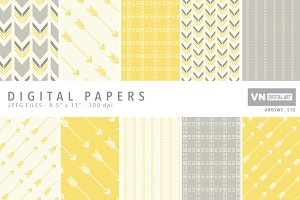 Digital Papers - Arrows - 510