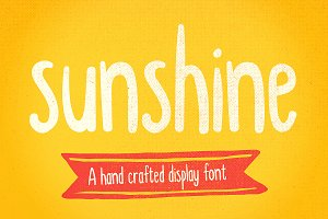 Sunshine hand drawn display font