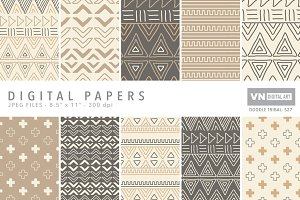 Digital Papers - Doodle Tribal - 527