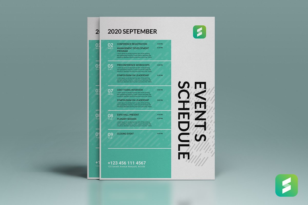 Event Schedule Flyer Template