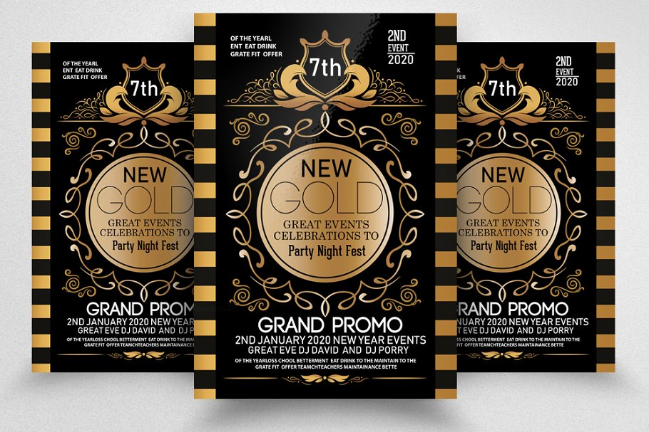 The Grand Party Night Golden Flyer