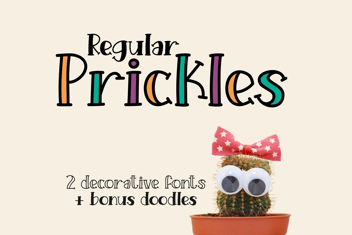 Prickles Regular in Serif Fonts