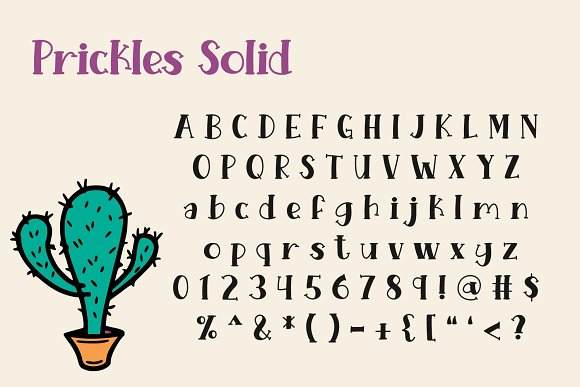Prickles Regular in Serif Fonts - product preview 1
