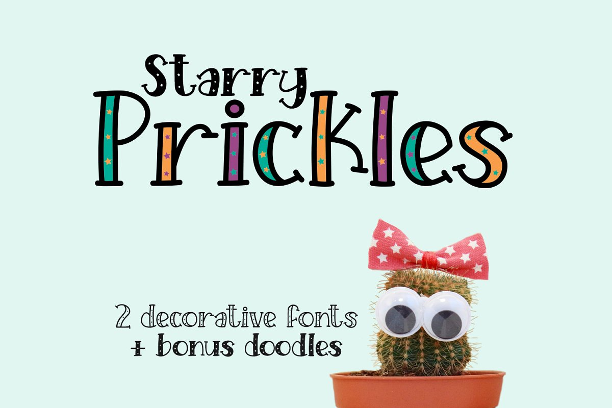 Starry Prickles in Serif Fonts