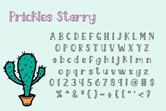 Starry Prickles in Serif Fonts - product preview 1