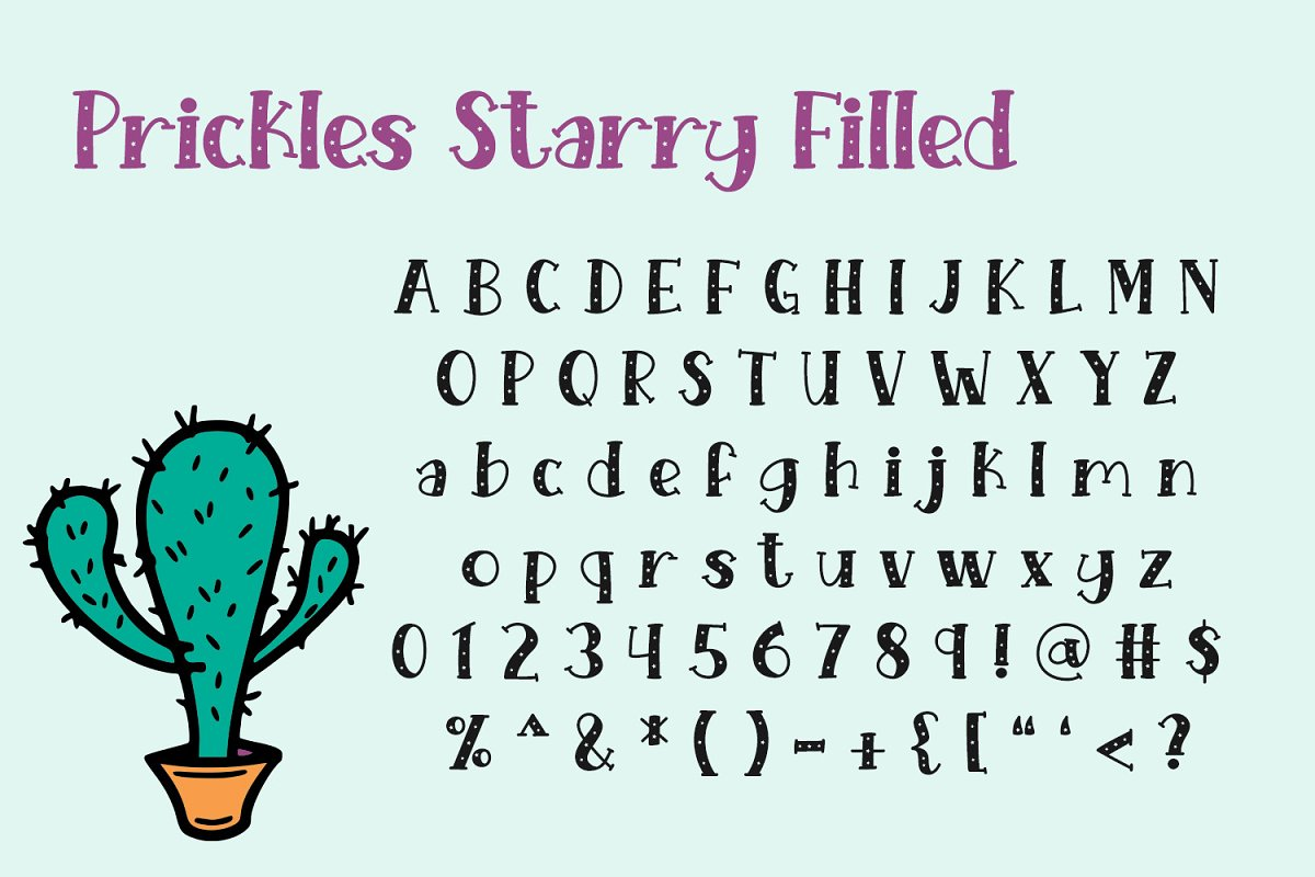 Starry Prickles in Serif Fonts - product preview 3