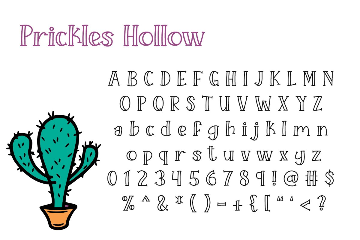 Prickles Complete Collection in Serif Fonts - product preview 1