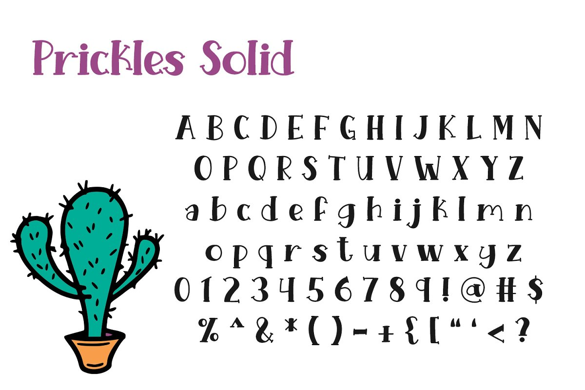 Prickles Complete Collection in Serif Fonts - product preview 2