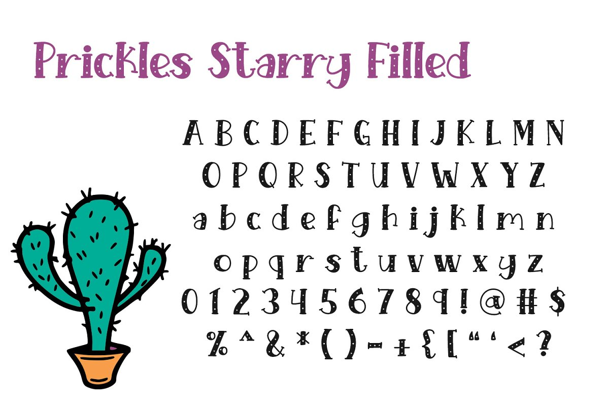 Prickles Complete Collection in Serif Fonts - product preview 7