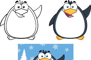 Penguin Cartoon Character Collection