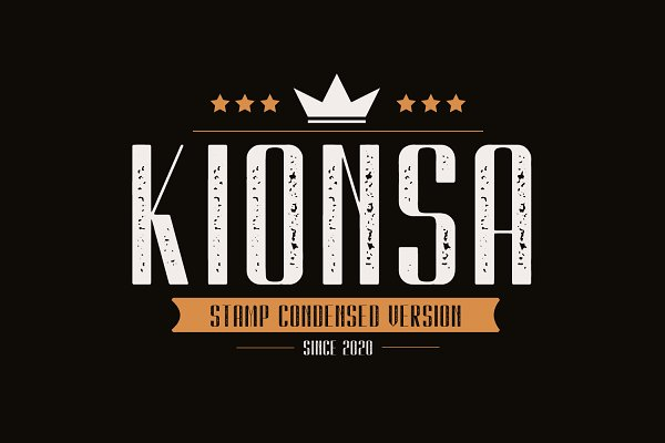 Kionsa Stamp - Vintage Display font