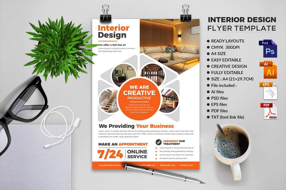 Interior Design Flyer Templates