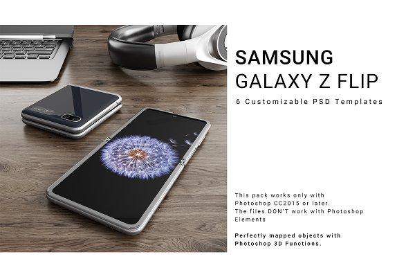 Samsung Galaxy Z Flip Mockups Set