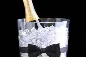 Champagne Bucket with Bow Tie