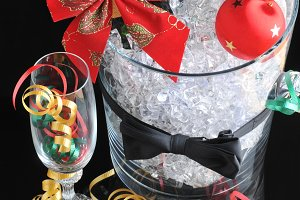 Champagne Bucket with Ornaments