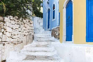 Narrow old colored streets