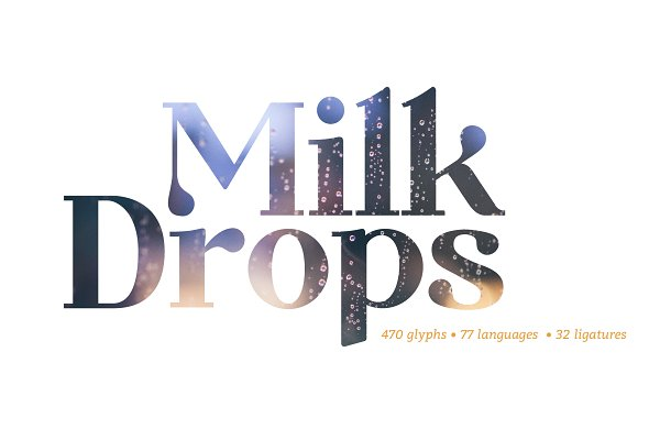 Milk Drops Bold