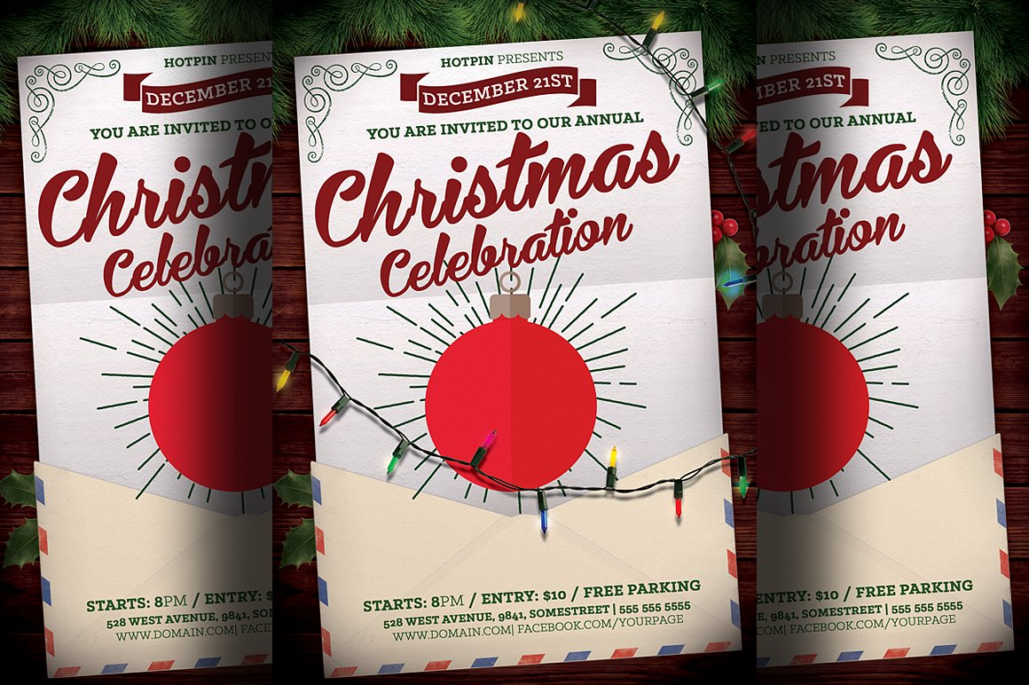 Christmas Event Flyer Template ~ Flyer Templates ~ Creative Market