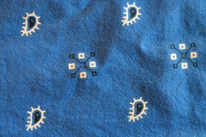 Blue Bandana Kerchief Detail