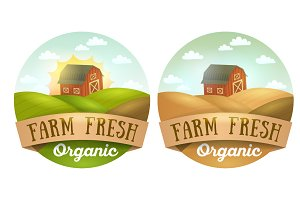 Farm Fresh logos, emblems, stickers